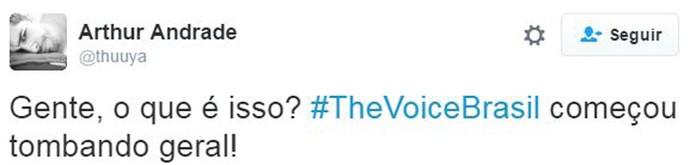 estreia web the voice (Foto: web)