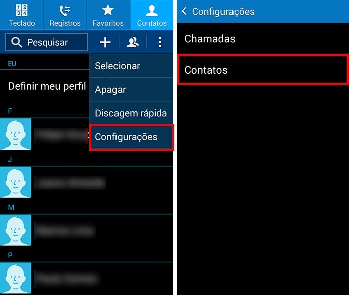 Acesse as configurações da agenda (Foto: Reprodução/Paulo Alves)