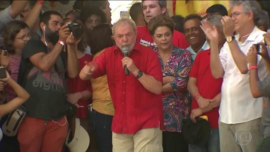 Lula e Dilma visitam obra do São Francisco na PB e fazem discurso