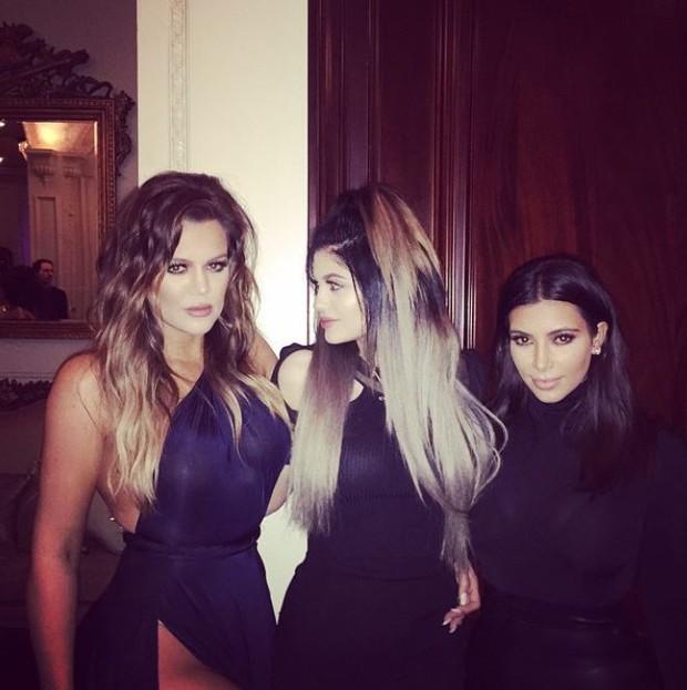 Khloe Kardashian, Kylie Jenner e Kim Kardashian (Foto: Instagram / Reprodução)
