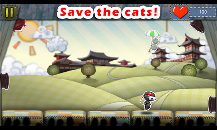 Ragdoll CATch é um divertido game onde usuário deve ser ágil para salvar os gatinhos (Foto: Divulgação/Windows Phone Store)