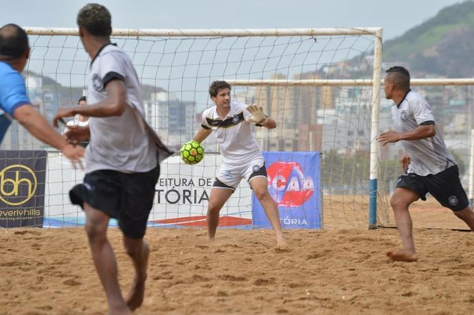 Rio Branco Beach Soccer conta com o talento do goleiro Marquinhos (Foto: Divulgação/WABS)