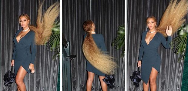 Beyoncé mostra as extensões extra longas que usou no casamento de Serena Williams (Foto: Reprodução/Instagram Beyoncé)