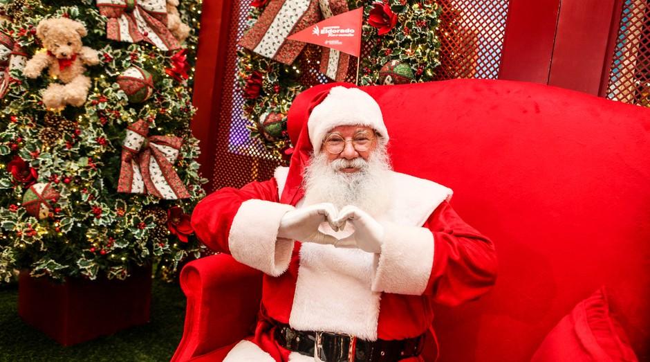 Papai Noel ainda é figura importante nos shoppings, mas Bom Velhinho perdeu espaço (Foto: Wikicommons)