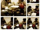 Nanda Costa tira a madrugada para estudar texto com Tiago Abravanel