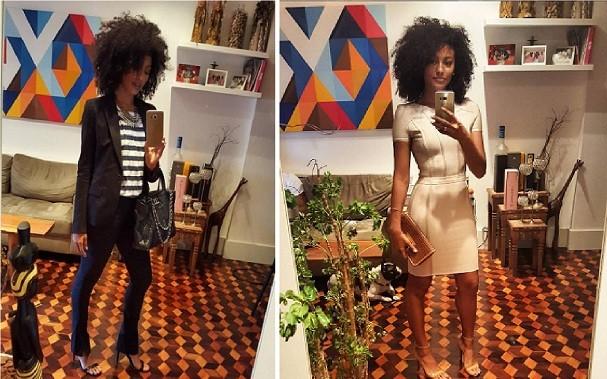 A sala da atriz Sheron Menezzes rende altas selfies e #looksdodia (Foto: Reprodução/Instagram)