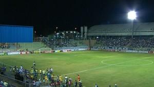 Guarani-MG x Cruzeiro na Arena do Calçado (Foto: Reprodução / TV Globo Minas)