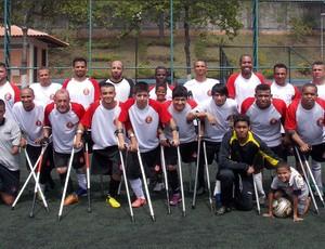 Equipe de futebol de amputados SMEL Mogi das Cruzes (Foto: Gustavo de Almeida / Arquivo Pessoal)