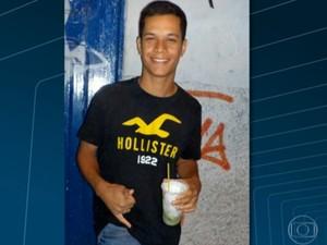 O entregador de pizza Rafael Neris, morto no Morro da Coroa (Foto: Reprodução/TV Globo)