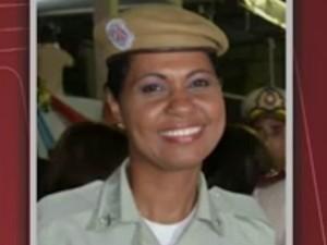 PM Dulcineide Bernadete de Souza  morre após ser baleada em assalto a posto de saúde  (Foto: Reprodução/TV Bahia)