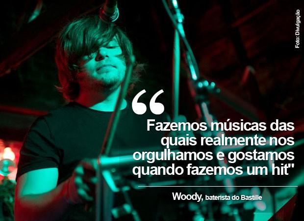 Woody, baterista do Bastille, fala ao G1 (Foto: Divulgação)