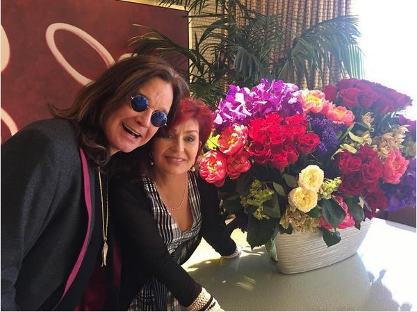 Ozzy Osbourne e Sharon Osbourne após renovarem seus votos de casamento (Foto: Instagram)