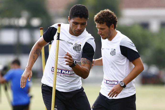Renato, Elano, Santos (Foto: Ricardo Saibun/Santos FC)