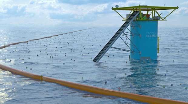 O sistema limparia o lixo plástico do Oceano Pacífico em dez anos (Foto: Reprodução)