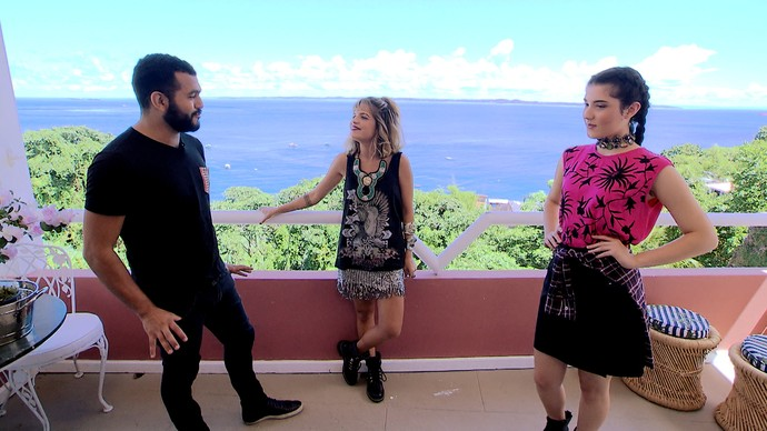 'Expresso' monta looks ousados com o rosa, a cor do ano (Foto: TV Bahia)
