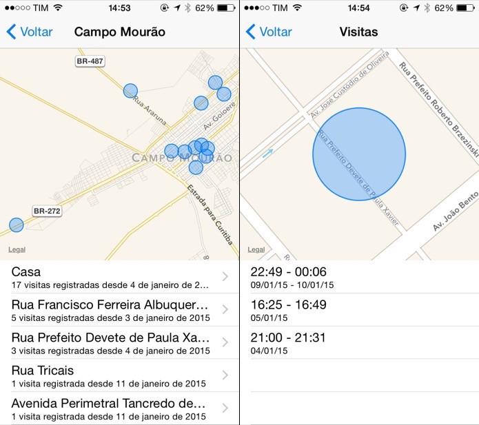 Visualizando detalhes sobre o registro de um local (Foto: Reprodução/Helito Bijora)