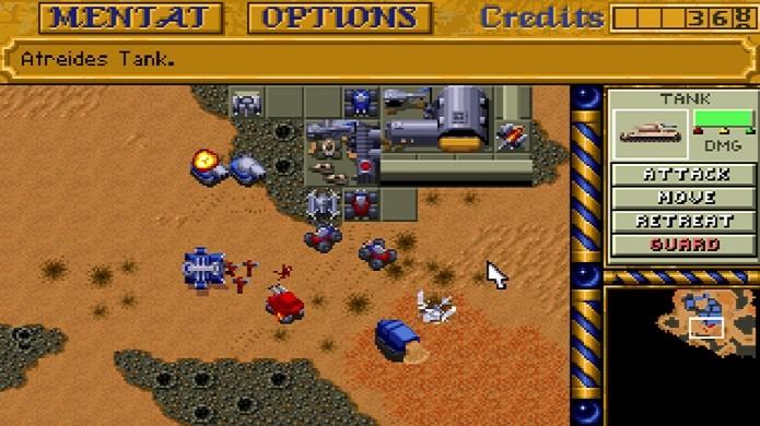 Famoso por consagrar o gênero de estratégia em tempo real, Dune II é inspirado em um dos maiores sucessos de ficção cientifica já escrito (Foto: Divulgação)