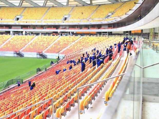 Jogo inaugural está marcado para ocorrer no domingo, dia 9 (Foto: Isabella Pina/Globoesporte.com)