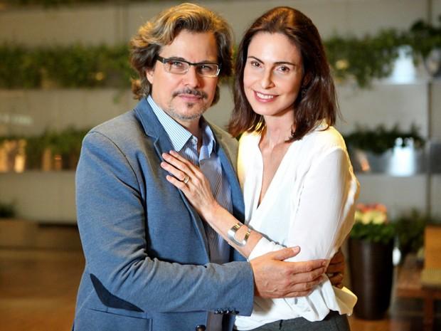 Marcelo e Úrsula são pais de Liz e Ricardo (Foto: Carol Caminha/ Gshow)