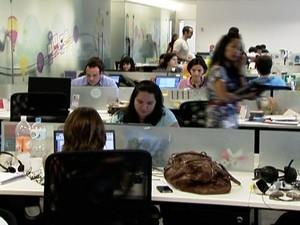 Ambiente de trabalho (Foto: Reprodução GloboNews)