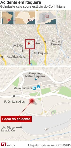 Mapa estádio Itaquerão (Foto: Editoria de Arte/G1)