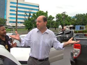 O advogado Francisco Faiad, preso durante a operação Sodoma, na terça-feira (14) (Foto: TVCA/Reprodução)