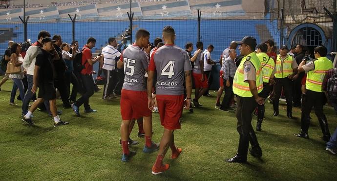 São Paulo em Guayaquil (Foto: Rubens Chiri / saopaulofc.net)