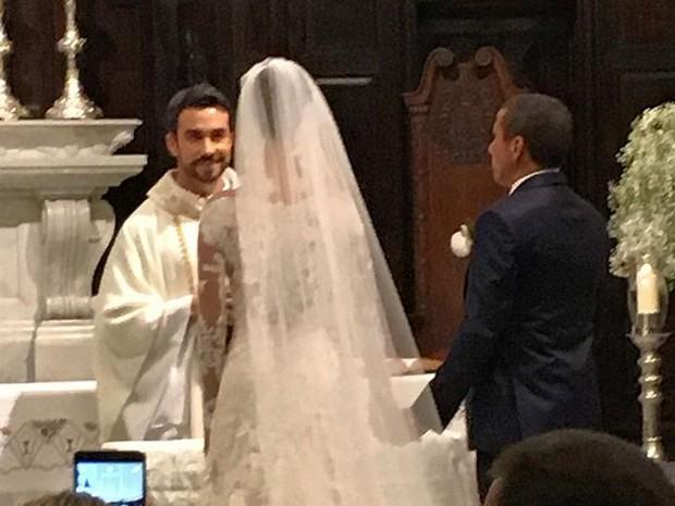 Casamento de Eri Johnson e Alice Souto (Foto: David Brazil / instagram )