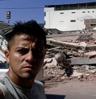 Ricardinho, terremoto Equador (Foto: Ricardinho)