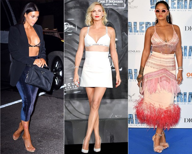 Kim Kardashian, Charlize Theron e Rihanna (Foto: Getty Images)