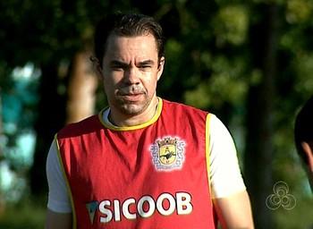 Adriano Louzada, atacante do Galvez (Foto: Reprodução/Rede Amazônica Acre)