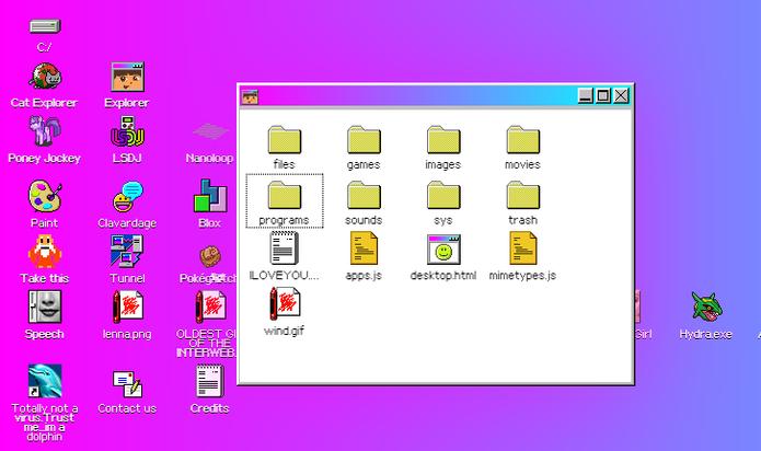 Explorer é a versão do Windows Explorer do sistema com a Dora Aventureira (Foto: Reprodução/Elson de Souza)