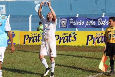 Atacante Rodrigo Gral comemora gol pelo Operário-MS (Foto: Divulgação/Operário-MS)