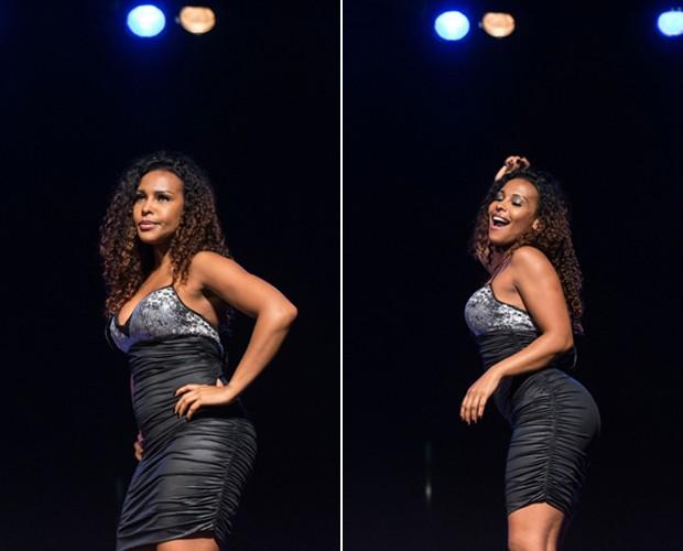 Solange diz que era muito magrinha e comemora nova forma de seu corpo (Foto: Camila Serejo / Gshow)