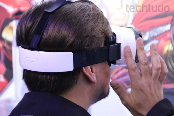 Óculos Gear VR (Foto: Fabricio Vitorino/ TechTudo)