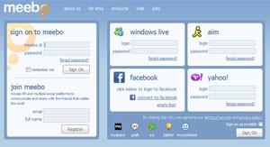 Tela de entrada do Meebo, que pode ser comprado pelo Google (Foto: Reprodução)