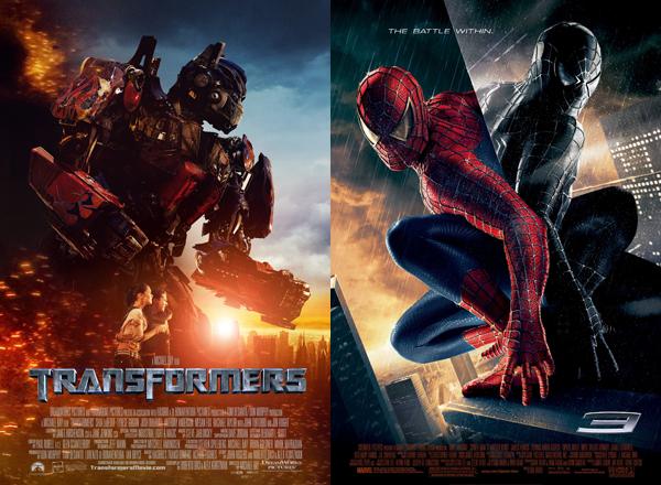 Transformers e Homem-Aranha 3 (Foto: Divulgação)