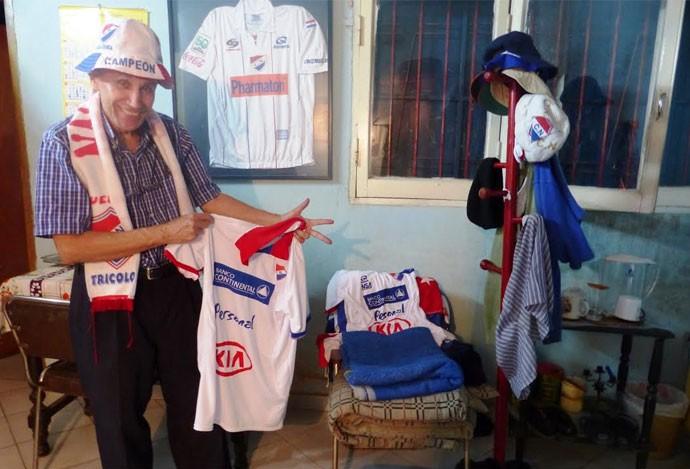 Lito Villagra torcedor nacional do paraguai (Foto: Daniel Mundim)