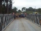 Após acidente em ponte móvel, trânsito é interditado na PR-151