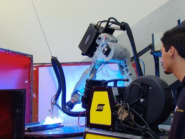 O projeto envolve processos de união, soldagem, reparo, adição, engenharia de superfícies. (Foto: MGTV/Reprodução)