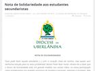Diocese manifesta solidariedade às ocupações em escolas de Uberlândia