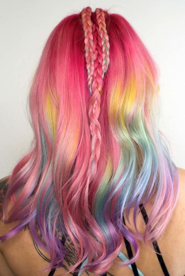 Cabelo Colorido (Foto: Reprodução/Instagram)