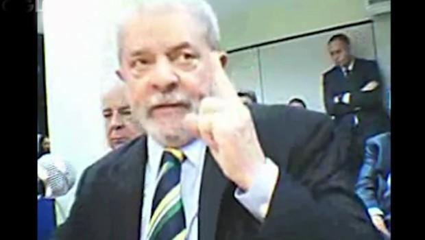 O ex-presidente Luiz Inacío Lula da Silva presta depoimento na Lava Jato (Foto: Reprodução)