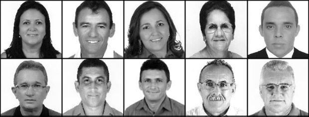 Candidatos a vereador em São Domingos de Pombal (Foto: Reprodução/TSE)
