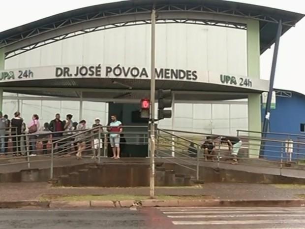 Unidade de Pronto-Atendimento (UPA) de Rio Verde, Goiás (Foto: Reprodução/TV Anhanguera)