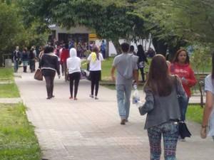 Mais de 8 mil pessoas fizeram provas no Vestibular da Udesc  (Foto: Thiago Augusto/Divulgação)