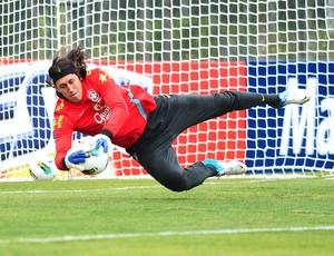 Cassio, Treino da Seleção Brasileira, CT de Cotia (Foto: Marcos Ribolli / GLOBOESPORTE.COM)