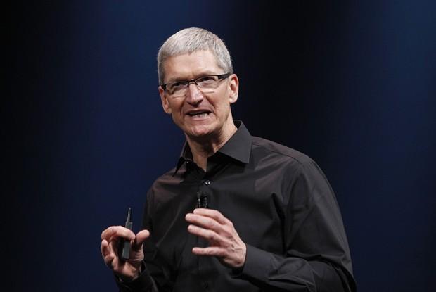 Tim Cook, CEO da Apple, durante apresentação do iPhone 5, em 12 de setembro de 2012 (Foto: AP Photo/Jeff Chiu)