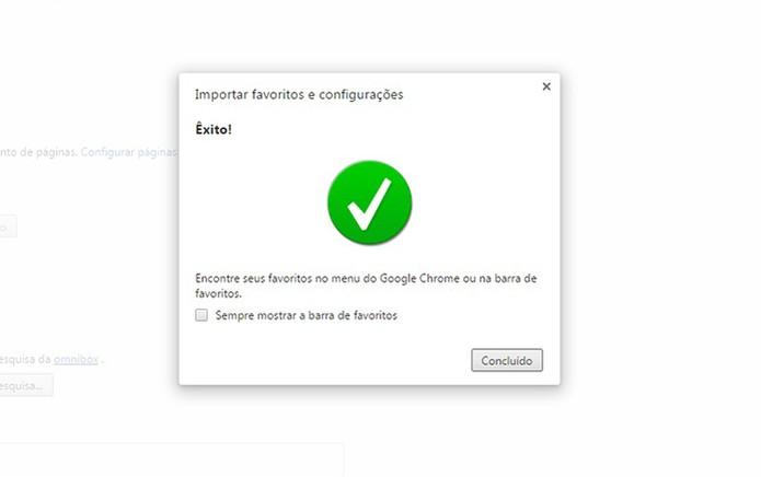 Pronto. Agora você pode ver seus favoritos no Google Chrome (Foto: Reprodução/Barbara Mannara)