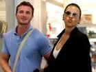 Ex-BBB Ariadna embarca com o namorado italiano